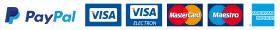 PayPal, visa, mastercard maestro